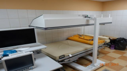 Bed for hyperthermia treatment with SIMENS equipment