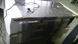 Restaurant kitchen equipment (pizza oven, cooling table)