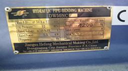Giętarka hydrauliczna Jiangsu Hefeng Mechanical Making Co., Ltd. (Chiny) DW50NC