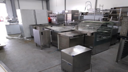 A set of gastronomic catering equipment