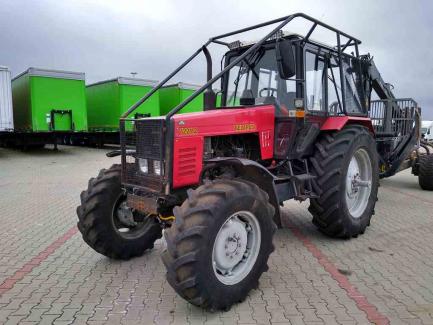 PACKAGE AUCTION Belarus 1221.2 farm tractor + Palms 12D / 700 haulage trailer