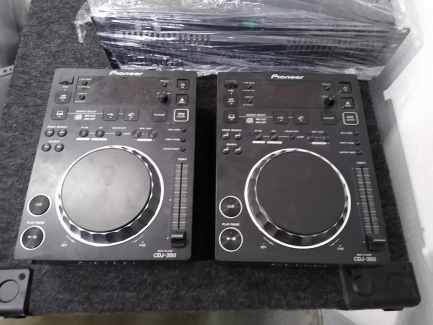 A set of professional audio equipment