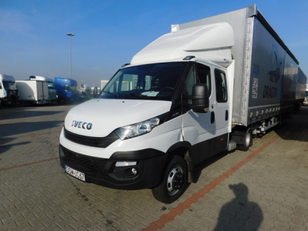 IVECO Daily 50C18 Euro 6 PACKAGE AUCTION + KONAR JG1 curtain semi-trailer