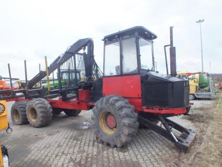 Bruks chipper type 803 ct + HEMEK dumper + LOGLIFT 65L crane