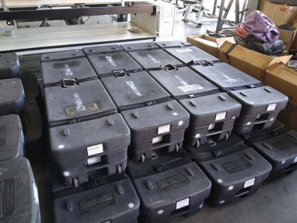 Multimedia equipment set (DA-LITE 305x518 projection screens, GXT4-2000RT230E UPS, Vertiv Liebert GXT3 / GXT4 stand)