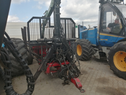 Forest trailer More Masikner SF-12/6955 and Cable winch Krpan 6,5 EH