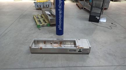 PROMOCJA GASTRONOMIA Nadstawka chłodnicza 6xGN1/3 1400x395x430mm z pojemnikami HENDI 232972