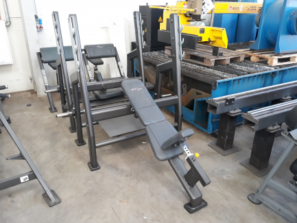 Inclined bench with Olimp & Olymp barbell bench stands