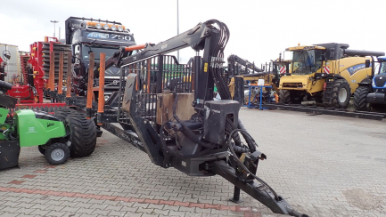 Forest trailer with crane LISAKO OU BMF12T2PRO